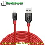 Cáp Lightning Anker Powerline+ Dài 1.8m (BH15tháng chính hãng)